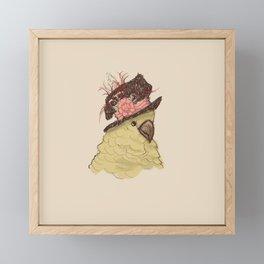 Bird in Hat 2 (Cockatoo) Framed Mini Art Print