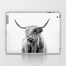 portrait of a highland cattle Laptop & iPad Skin