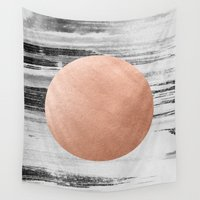 rose gold Wall Tapestries featuring rose gold #1 by LEEMO