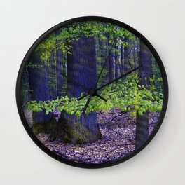 Shining forest Wall Clock