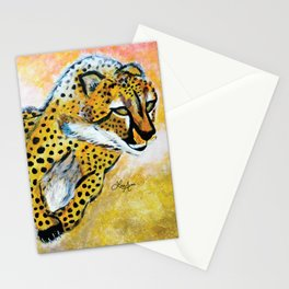 Catch Me If You Can (Cheetah) Stationery Cards