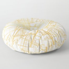 ATHENS GREECE CITY STREET MAP ART Floor Pillow