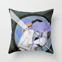 lovers Throw Pillows featuring Lovers by G-Fab