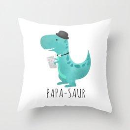 Papa-saur Throw Pillow