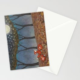 sleepy foxes Stationery Cards
