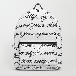 You become from The Velveteen Rabbit Backpack