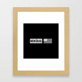 US Flag: Montana Framed Art Print