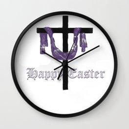 Easter Cross Wall Clock