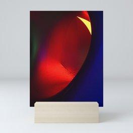 Red oval Mini Art Print
