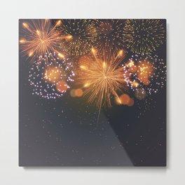 Happy Fireworks Metal Print