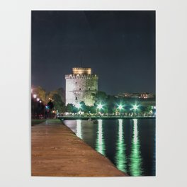White Tower of Thessaloniki Poster