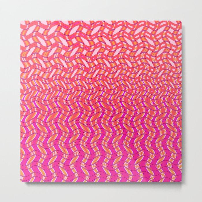 Pink Tangerine Twist Metal Print