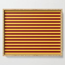 Minnesota Team Colors Stripes Serving Tray