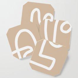 beige squiggle Coaster