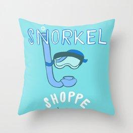 Scott's Snorkel Shoppe Throw Pillow