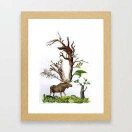 Legs to Walk us, Drop us Framed Art Print