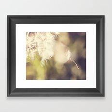Broken Dandelion, Bokeh Framed Art Print