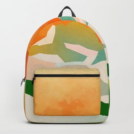 mountains landscape abstract Backpack