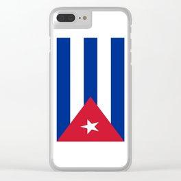 Flag of Cuba -cuban,havana, guevara,che,castro,tropical,central america,spanish,latine Clear iPhone Case