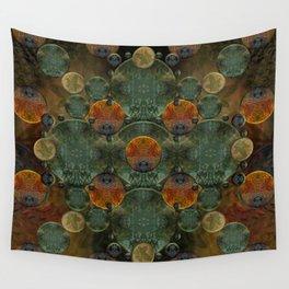 """Glass candy Mosaic (caramel pattern)"" Wall Tapestry"