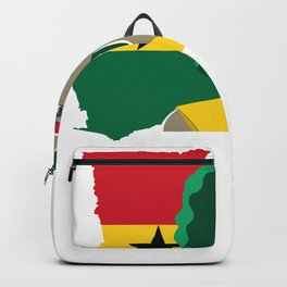Proud Ghana Girl Flag West African  Backpack