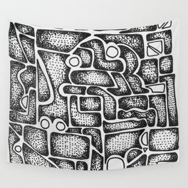 Abstract Aztec Wall Tapestry