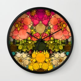 Perky Flowers! Wall Clock