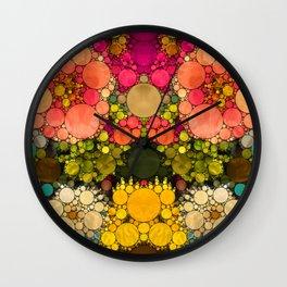 Perky Flowers! Wall Clock
