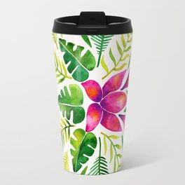 Tropical Symmetry – Pink & Green Travel Mug