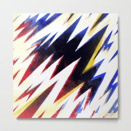 Electric pattern Metal Print