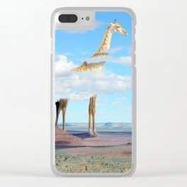 Oversized animals Clear iPhone Case