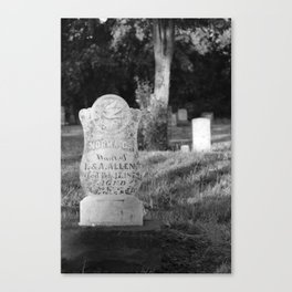 Looper's Cemetery 3 Canvas Print