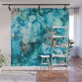 Blue Abstract Wall Mural