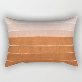 Sunset - rust, terracotta, clay, desert, sunshine, boho, ombre, paint, sunset colors,  Rectangular Pillow