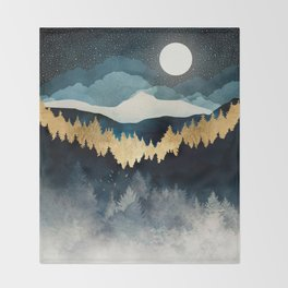 Indigo Night Throw Blanket