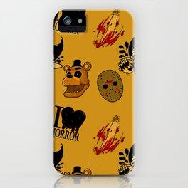 I <3 HORROR iPhone Case