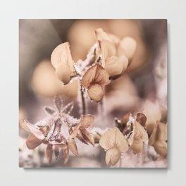 Wildflowers in pastel and camel tones Metal Print