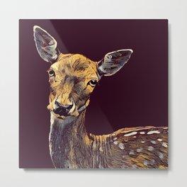 THE FALLOW DEER 001 - The Dark Animal Series Metal Print