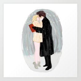 Bridget Jones Kiss Art Print