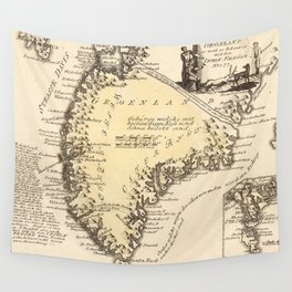 Vintage Map of Greenland (1791) Wall Tapestry