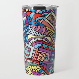 Colorful ethno pattern design Travel Mug