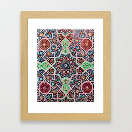 V16 Special Colored Traditional Moroccan Design. Framed Art Print