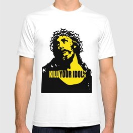As Worn By Rose Kill Your Idols Mens Guns  Roses jesus T-shirt
