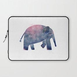 Happy Elephant - Blue + Pink Laptop Sleeve