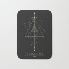 Aquarius Zodiac Constellation Bath Mat