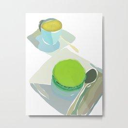 Cafe Noisette and Pistache Macaron Metal Print
