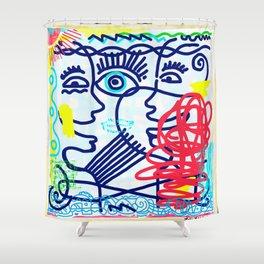 LET'S TALK ART #04 Shower Curtain