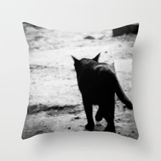 All In Black Throw Pillow