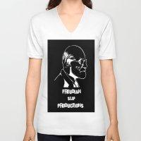 freud V-neck T-shirts featuring Freud by Freudian Slip Producions