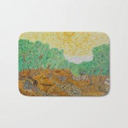 Oil trees Bath Mat